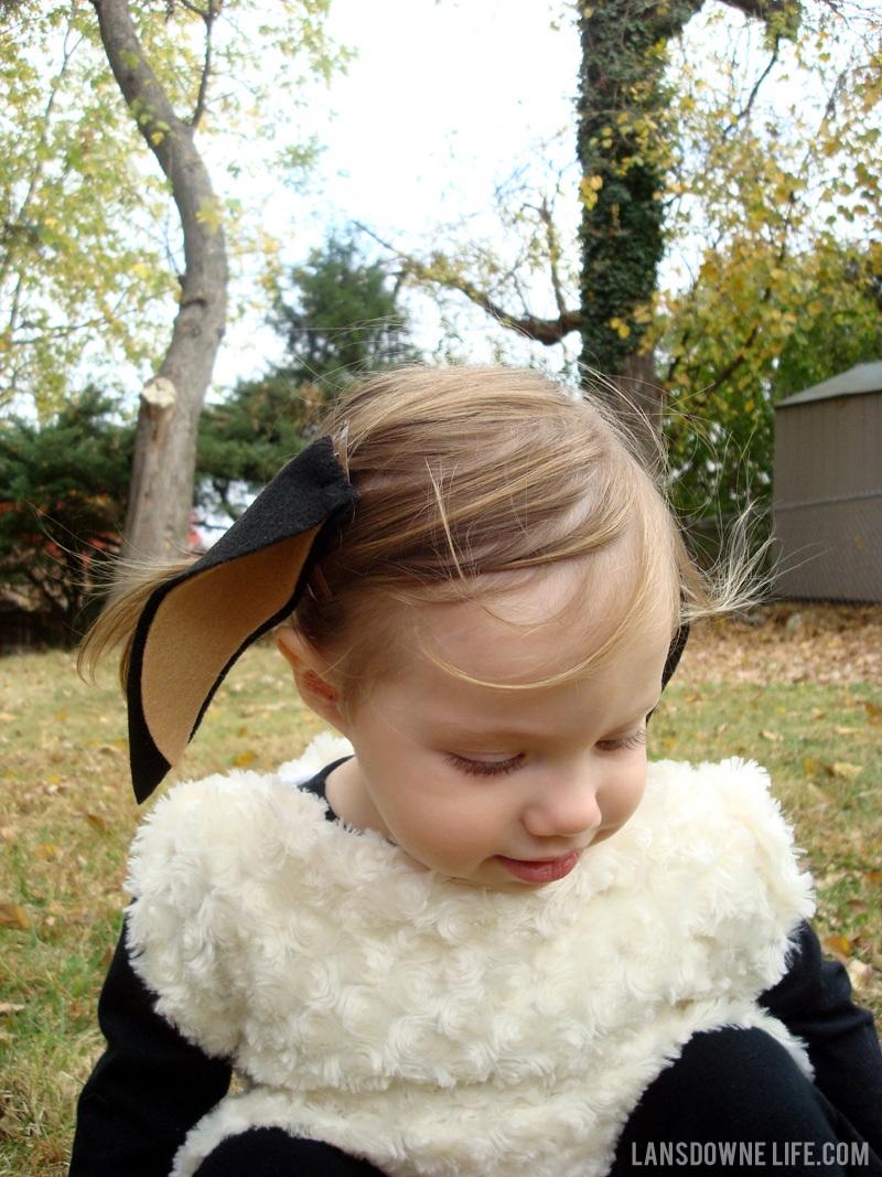 Halloween DIY lamb costume