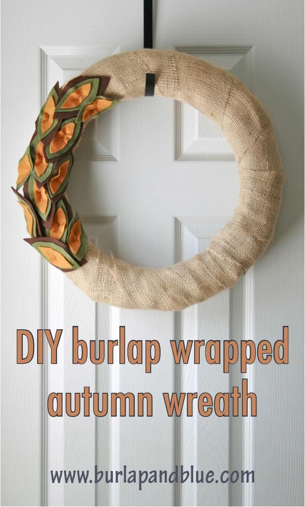 Burlap and felt autumn wreath {a tutorial}