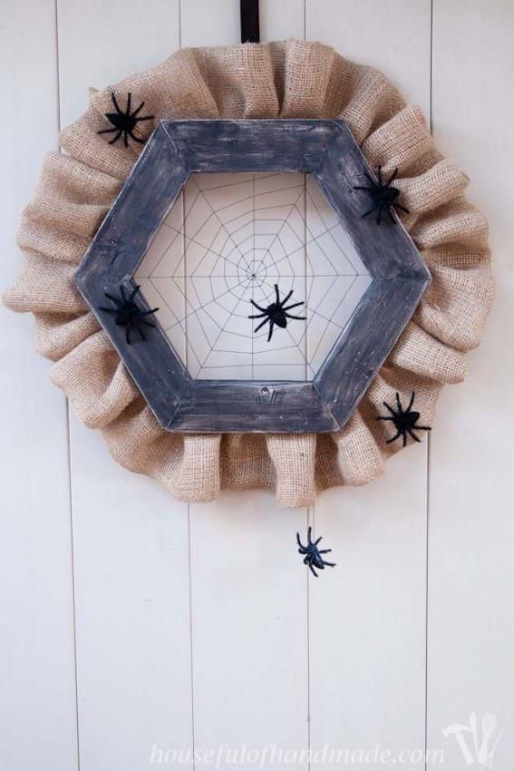 Halloween Spider Web Wreath