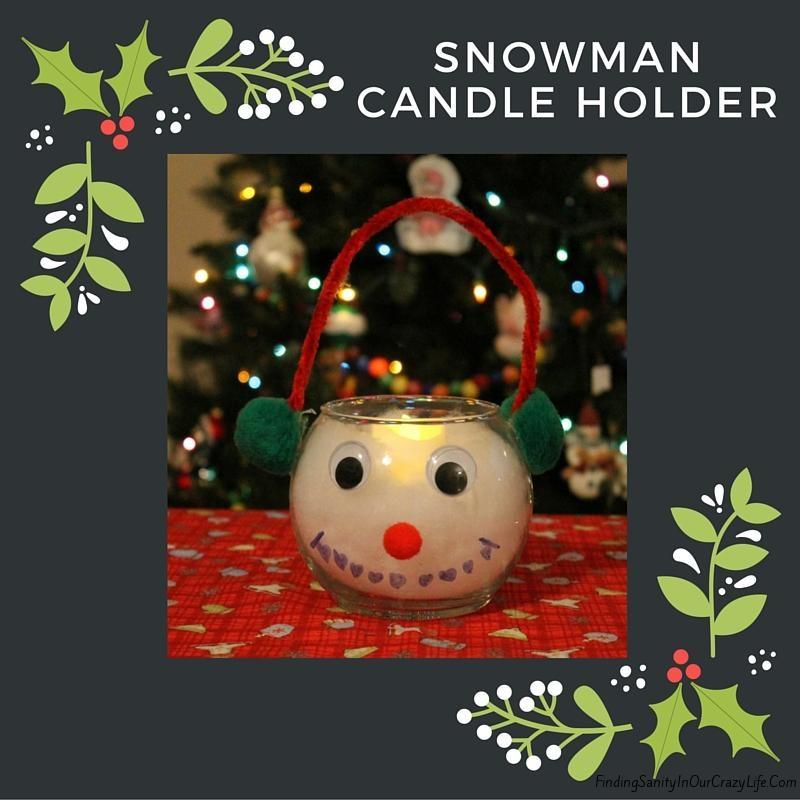 DIY Snowman Candle Holder
