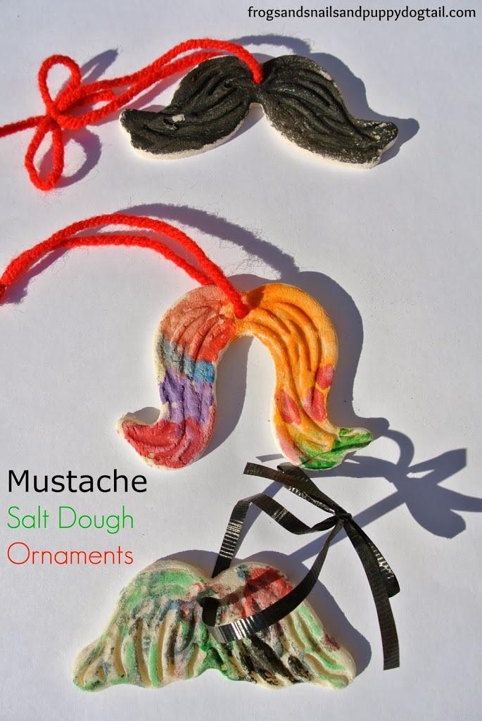 Mustache Salt Dough Ornaments