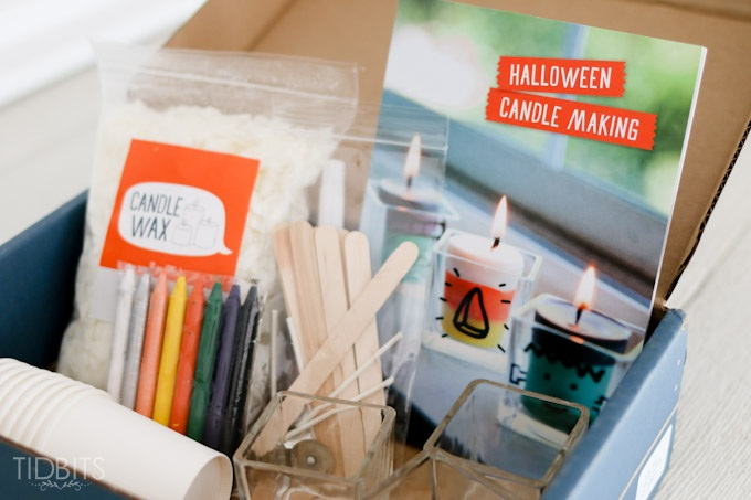 Easy Halloween Candle Making for Kids (and Moms!) with the Doodle Crate