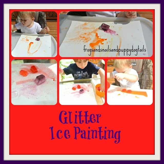 Glitter Ice Painting