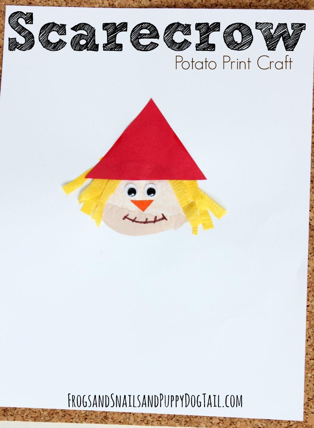 Scarecrow Potato Print Craft