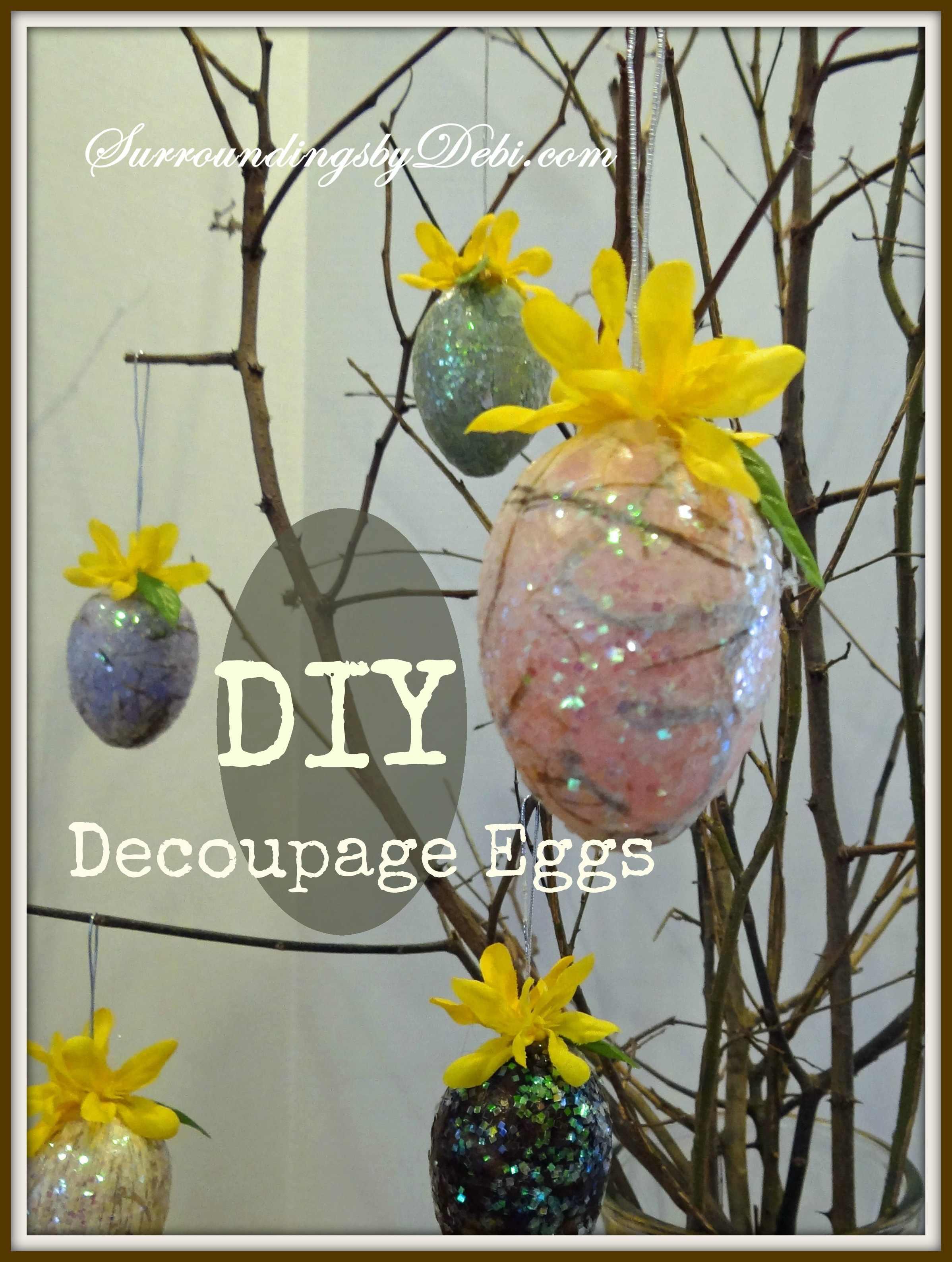 DIY Hanging Egg Ornaments