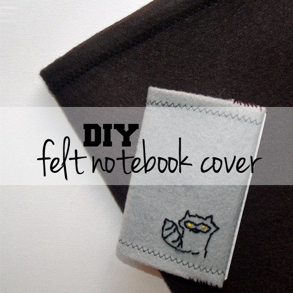 Felt Book Cover Diy ~ Diy felt notebook cover craftsmile