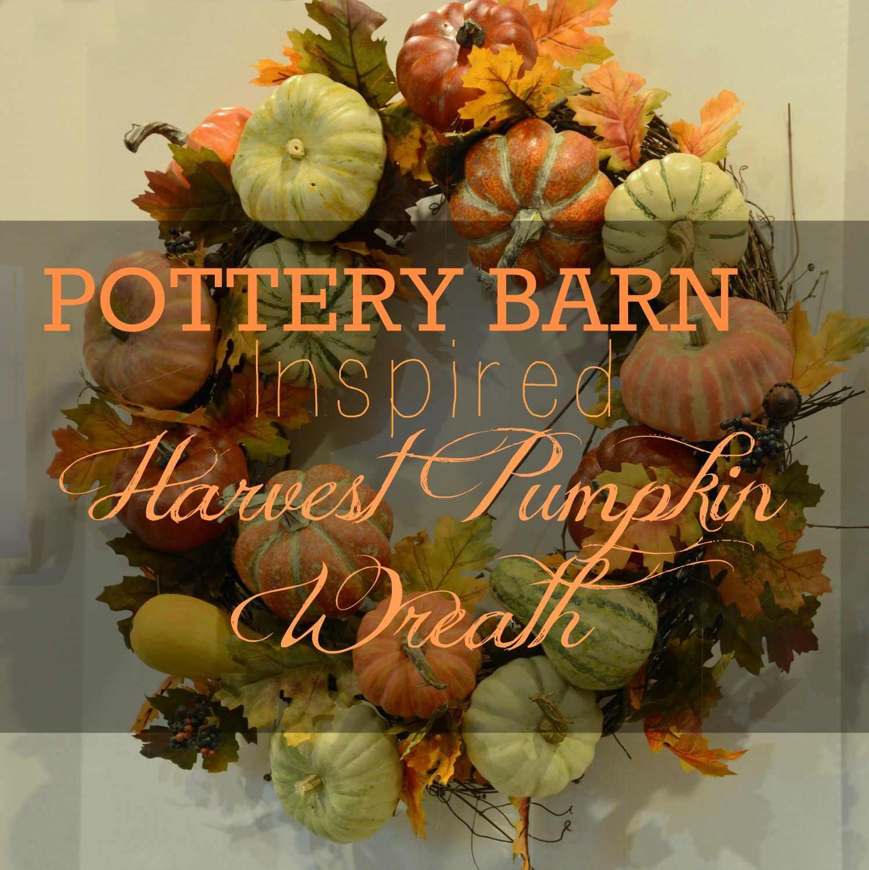 Pottery Barn Inspired Harvest Pumpkin Wreath