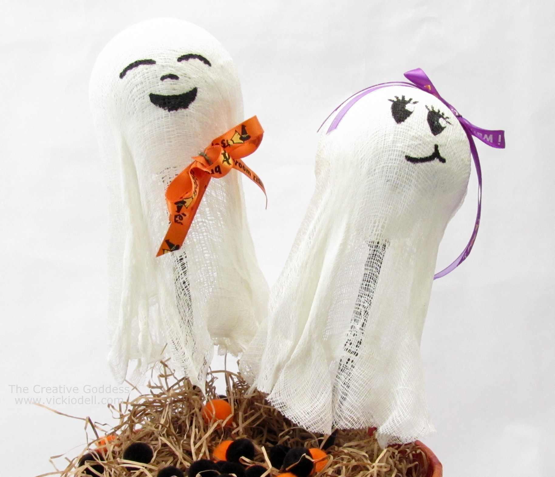 Halloween Crafts Glow in the Dark Ghost Rattles The Creative Goddess