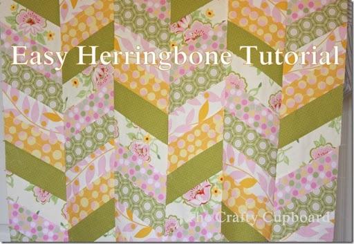 Quick Herringbone Quilt Tutorial