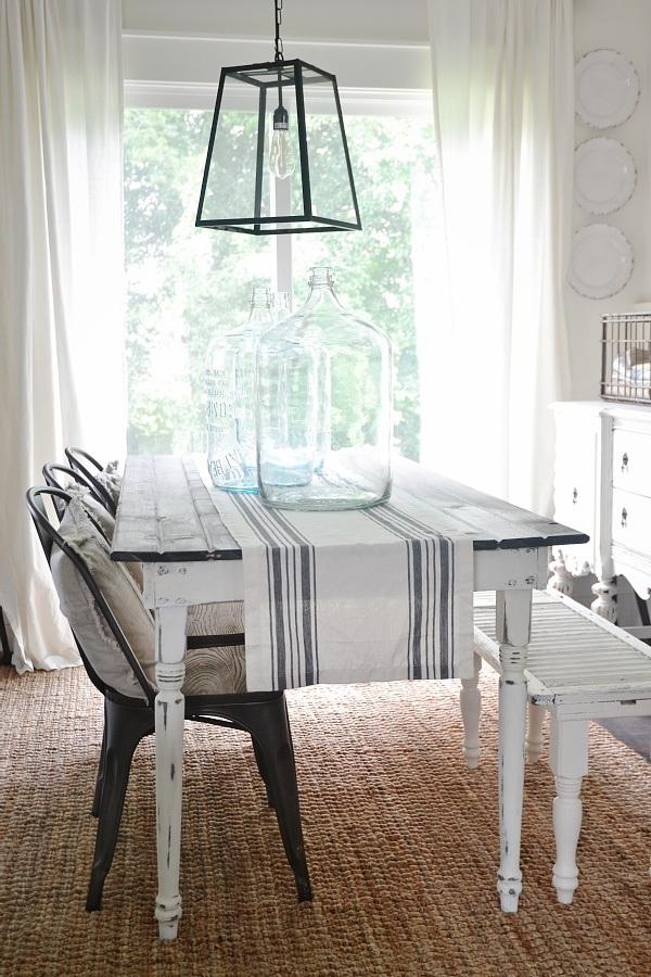 DIY Simple Farmhouse Dinning Table