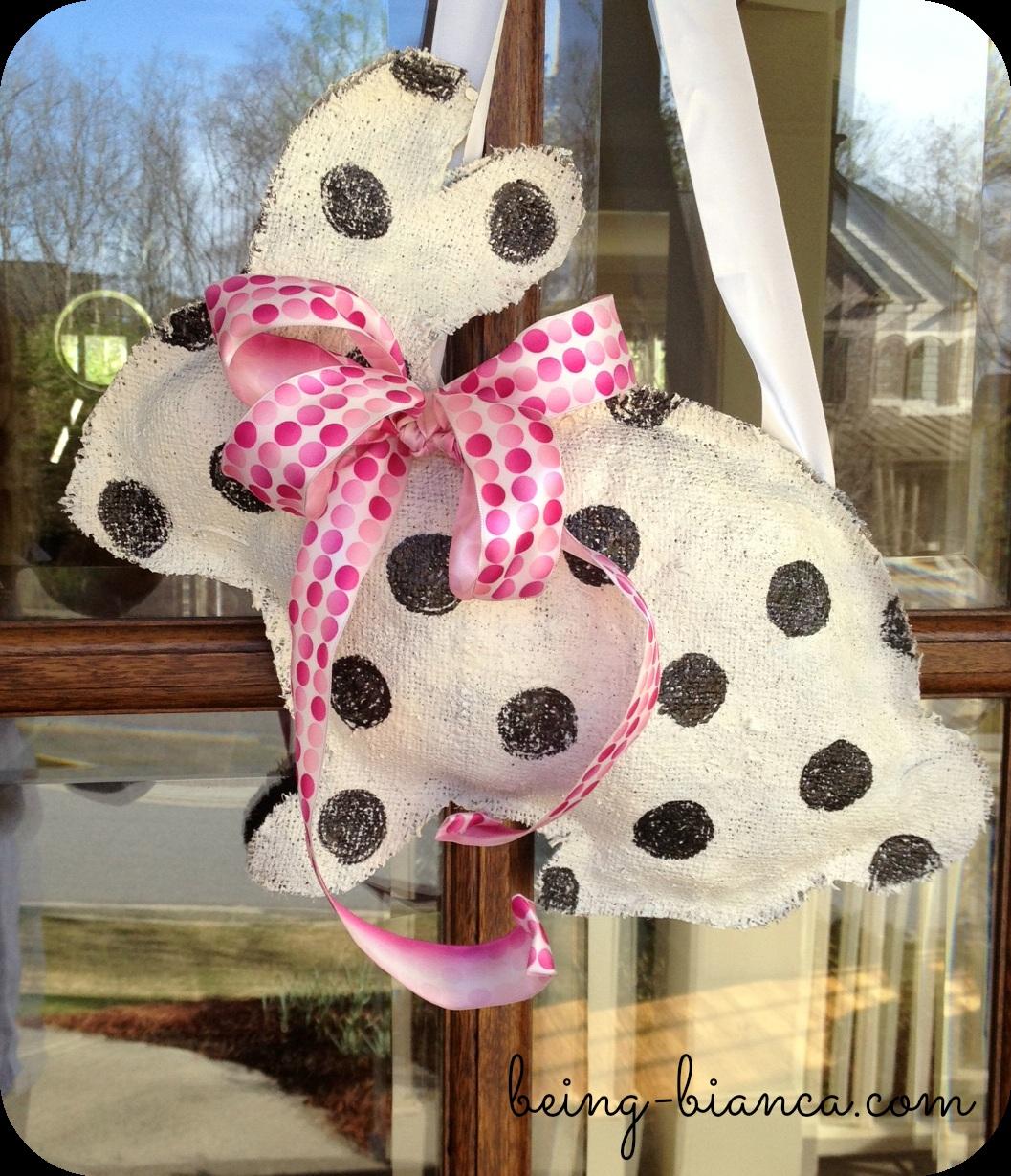 DIY Easter Bunny Wreath Door Hanger