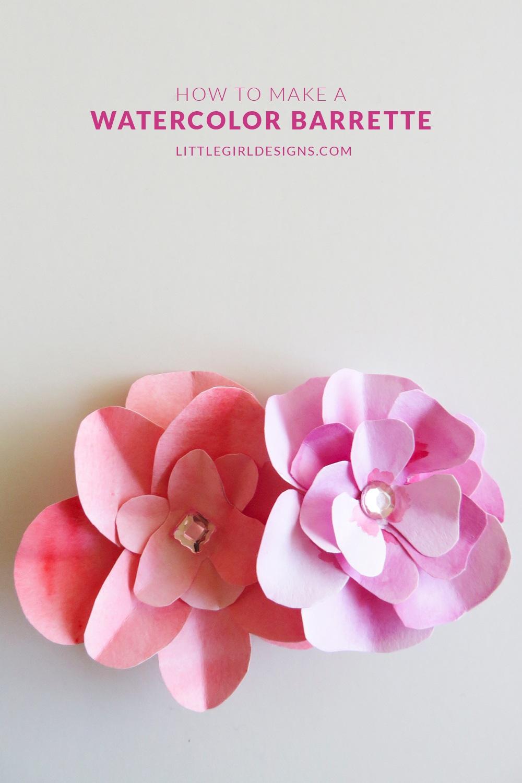 Make a Watercolor Flower Barrette