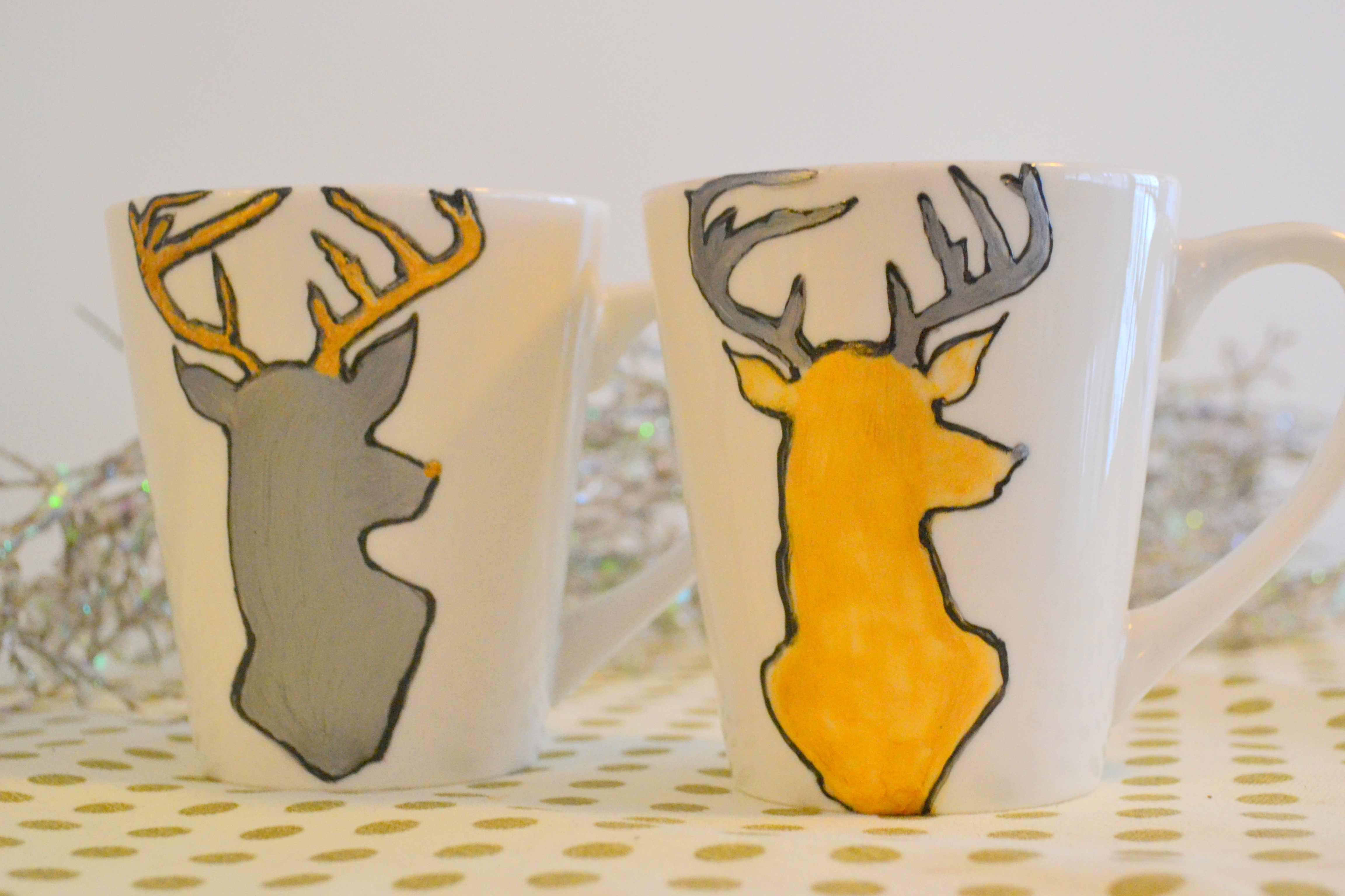 DIY To Try - Hand Painted Mugs