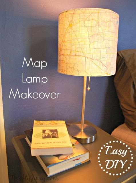 DIY Map Lamp Makeover