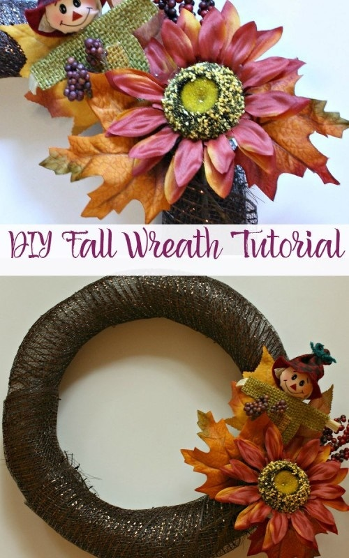Holiday Craftacular Link Up DIY Fall Wreath