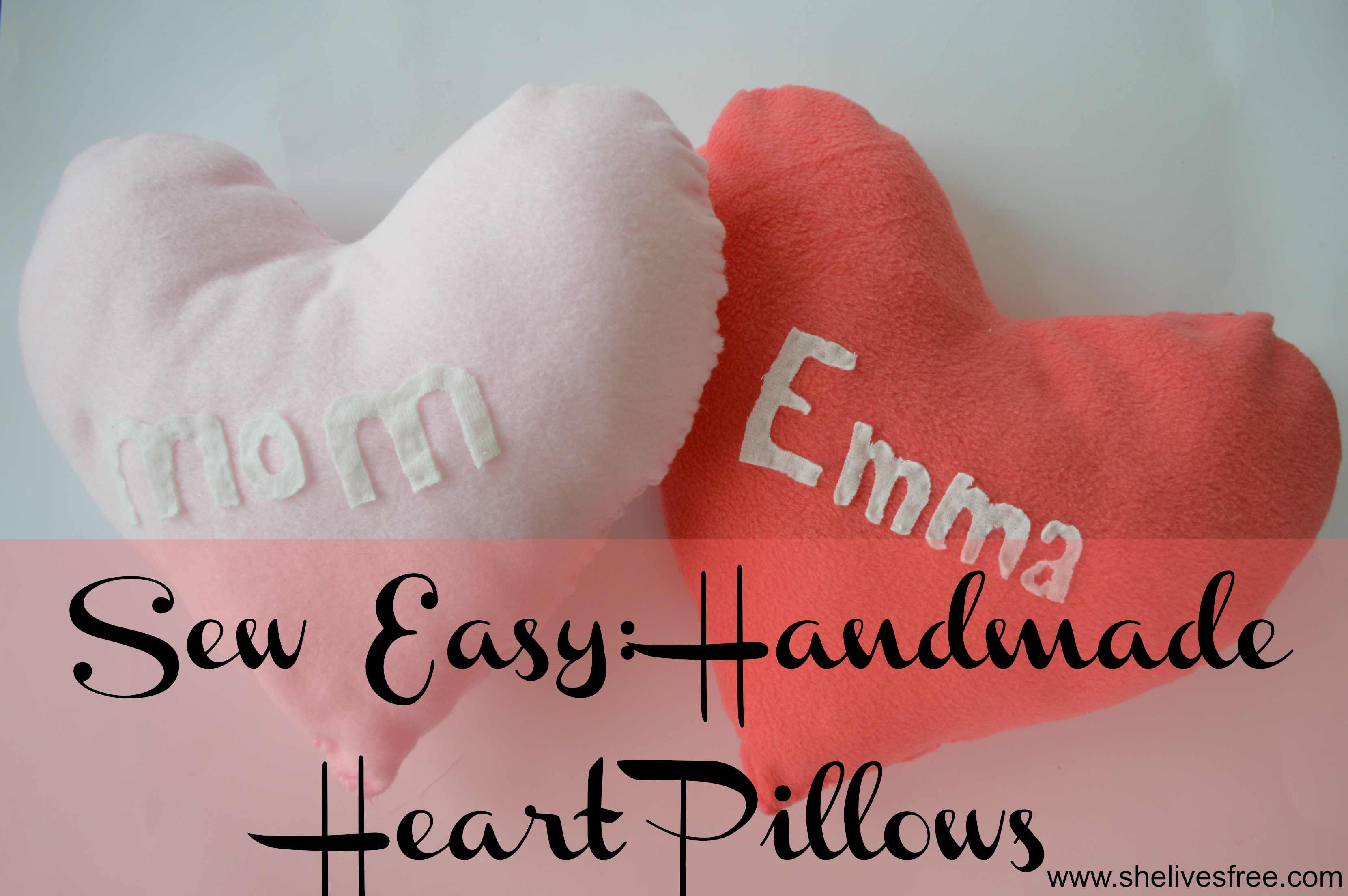 Sew Easy How to Make Handmade Heart Pillows