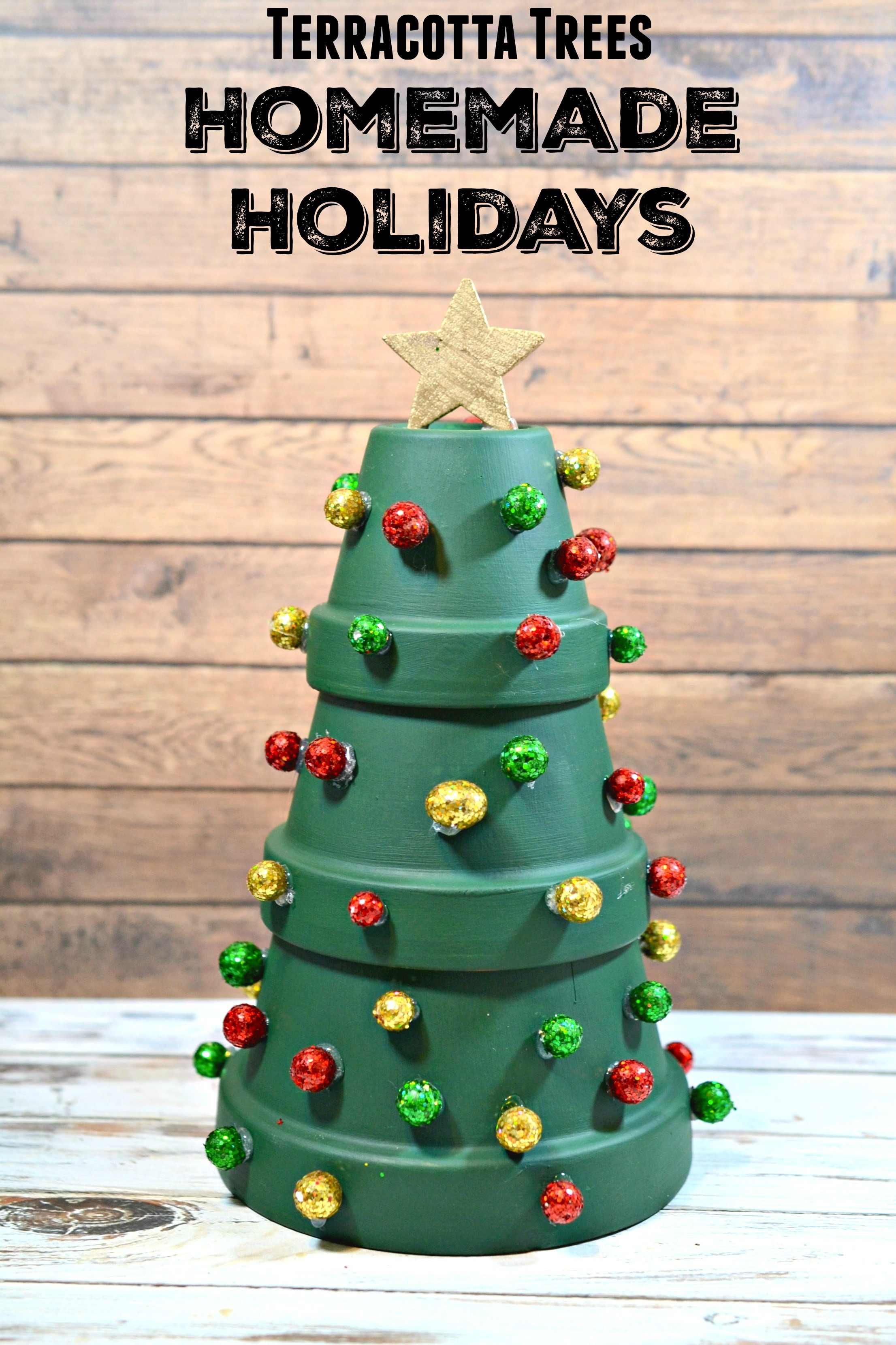 Terracotta Christmas Tree Holiday Home Decor