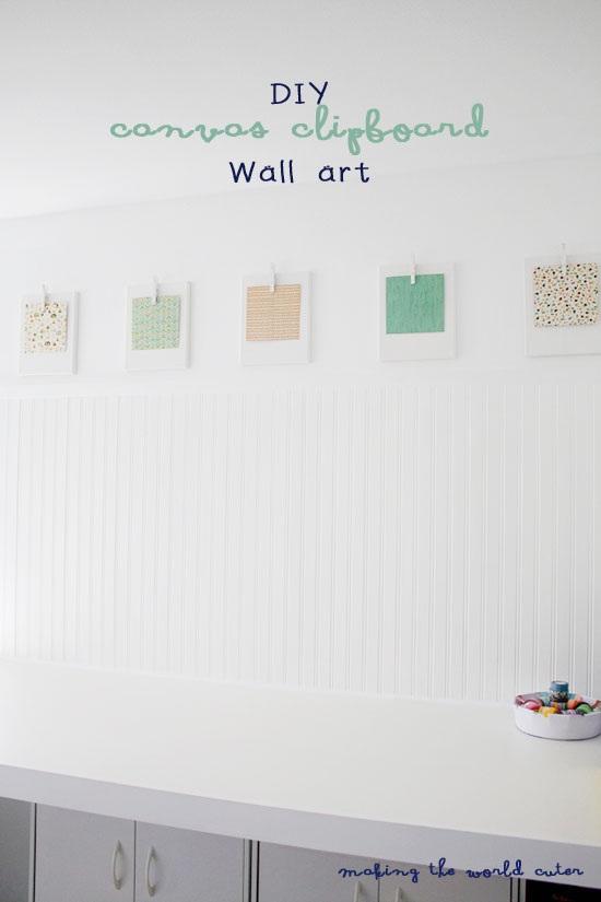 DIY Clipboard Canvas Wall Art National Scrapbook Day