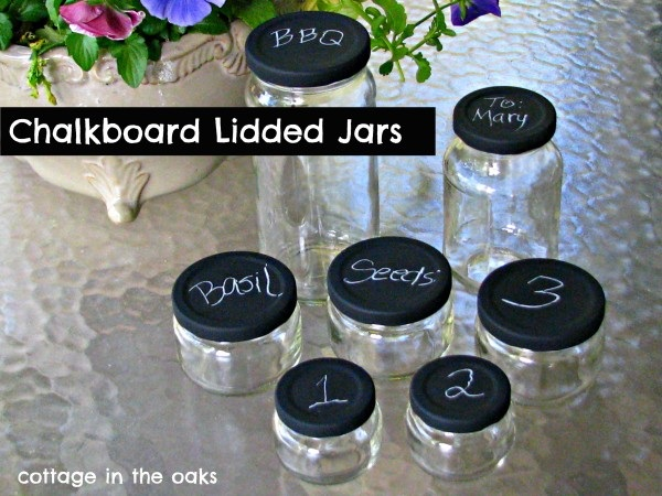 DIY Chalkboard Lidded Jars