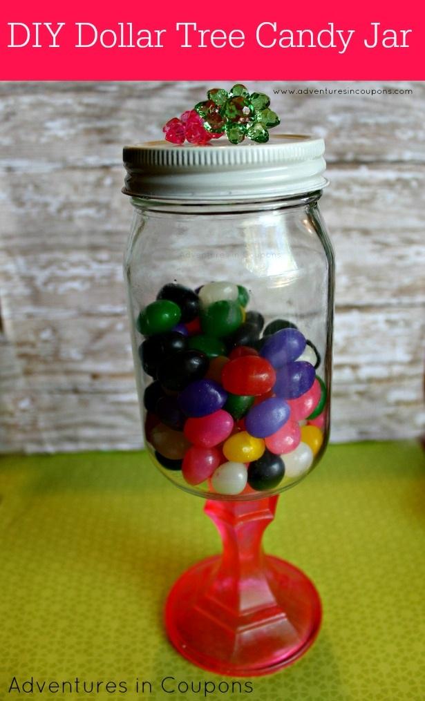 DIY Dollar Tree Candy Jar So Cute!
