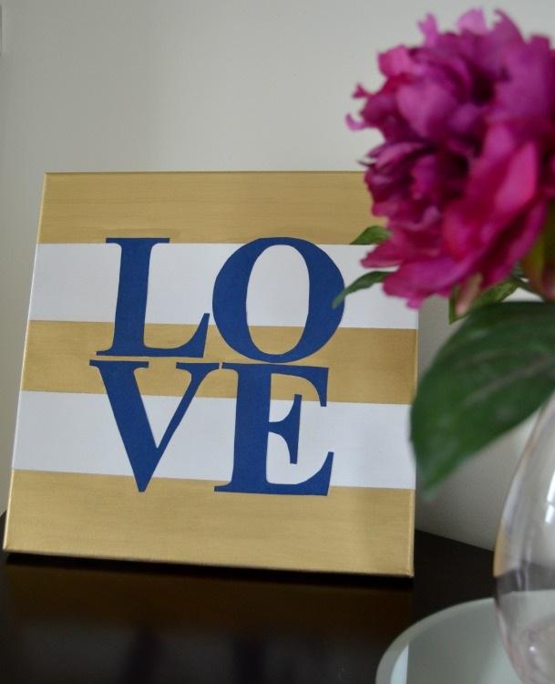 Easy Valentine Themed Canvas Art