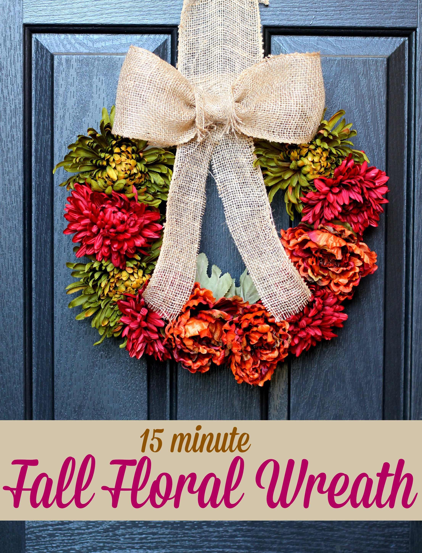 DIY Fall Floral Wreath