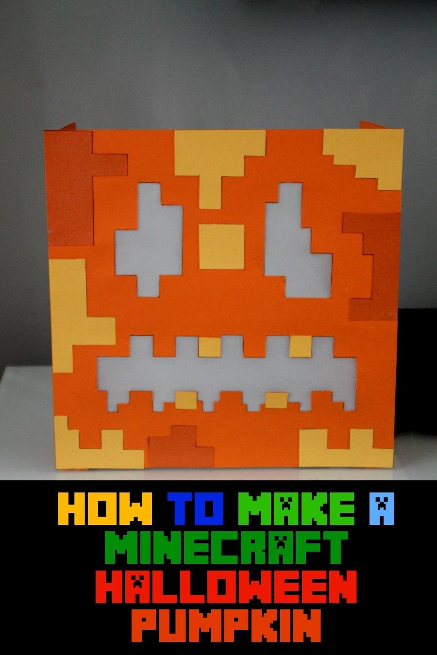 How to make a Paper Minecraft Halloween Pumpkin for kids