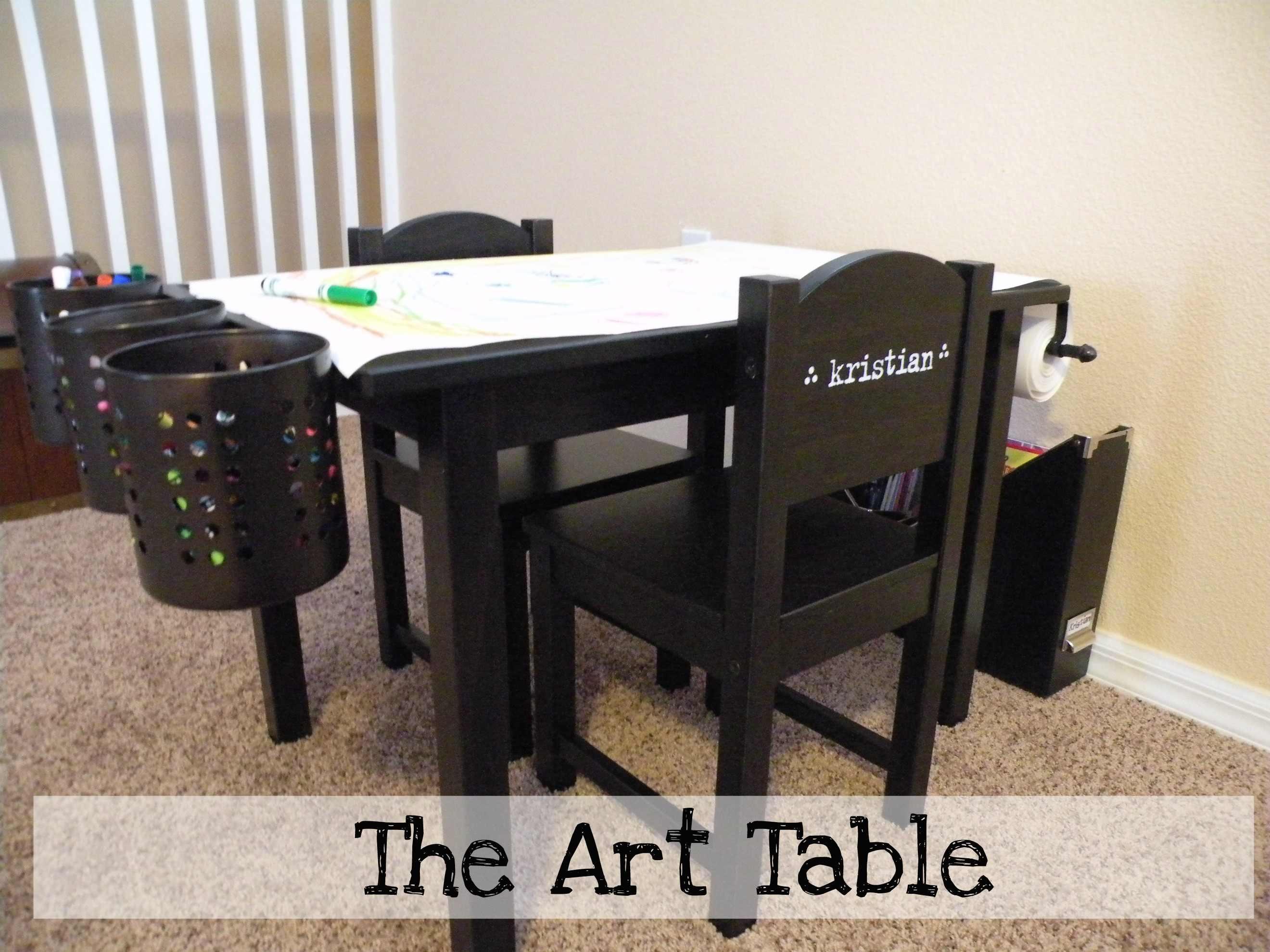 Art Table Teach, Inspire, Love, Raise