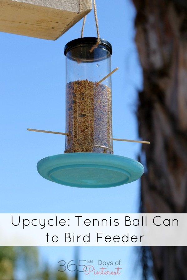 Upcycle From Tennis Ball Can to Bird Feeder