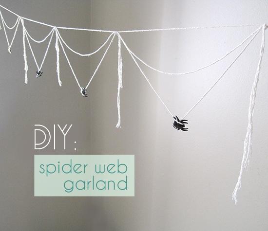 Diy spider web garland