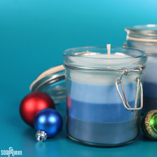 12 Days of Christmas Winter Gardenia Ombre Candle