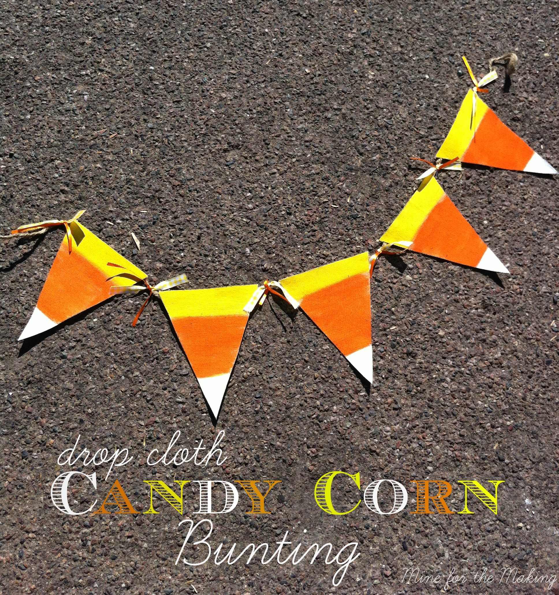 Drop Cloth Candy Corn Bunting