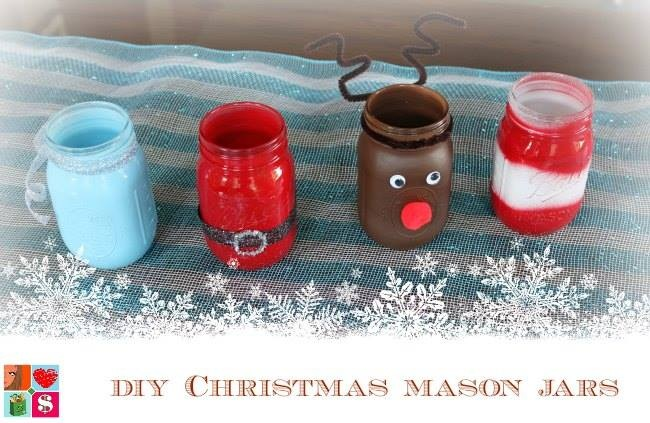 Christmas Mason Jars #12daysof