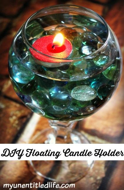 DIY Floating Candle Holder